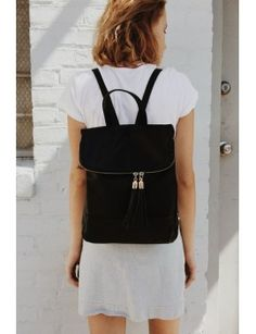 leather-backpack by brandy-melville
