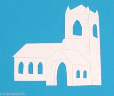 10-Church-Die-Cuts-Baby-Christening-Communion-Religious-Invites-Wedding-Cards