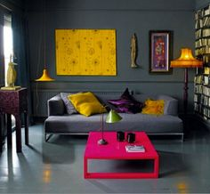 Photo décoration salon jaune moutarde | Salon | Pinterest | Salons ...