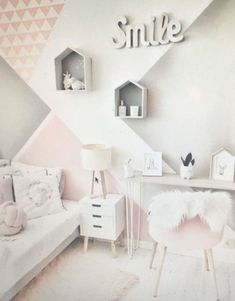 45 stylish & chic kids bedroom decorating ideas for girl and boys 10 Baby Room Design, Baby Room Decor, Girls Bedroom, Master Bedroom, Girl Room, Bedroom Furniture, Bedroom Decor, Bedroom Ideas, Cozy Bedroom