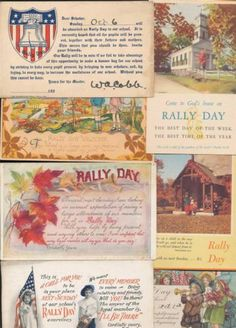 Lot of 25 Vintage Rally Day Bible Verses Religious Postcards MMM81 | eBay