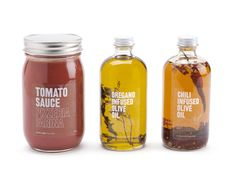 Packaging, which mimics the simplicity of the italian pizzeria. When looking through the identity system that Glasfurd & Walker designed, you can tell that they infused the colors of their house-made sauce into the building. Cool Packaging, Bottle Packaging, Brand Packaging, Design Packaging, Product Packaging, Product Labels, Vancouver, Bokashi, Jar Labels