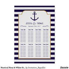 Shop Nautical Navy & White Stripe Anchor Wedding Poster created by Invitation_Republic. Anchor Wedding, Nautical Wedding, Trendy Wedding, Elegant Wedding, Wedding Ideas, Wedding Posters, Wedding Prints, Striped Wedding, Blue Wedding