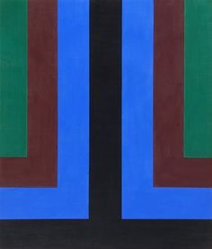 Blue Note Artist: Howard Mehring Completion Date: 1964 Style: Hard Edge Painting Genre: abstract
