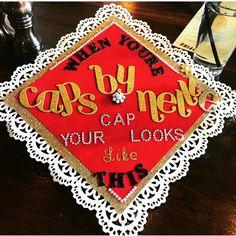 Graduation Cap I made for me fall 2016.  #GradCapIdeas #CustomizedGradCaps