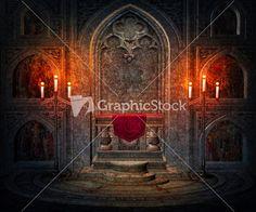 Dark Interior Gothic Background
