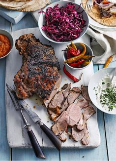 Lamb shawarma with pickled red cabbage and harissa dressing
