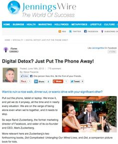 Do we need a book to tell us when to put away the smart phone? http://anniejenningspr.com/jenningswire/specialty/technology/digital-detox-just-put-the-phone-away/