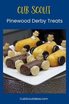 Check out these fun and easy Cub Scout Pinewood Derby treats! The snacks can be made at home, or the kids can make them as an activity for your pack event. #PinewoodDerby #CubScouts #CubScout #Scouting #Webelos #ArrowOfLight #CubScoutIdeas   via @CubIdeas