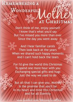 Remembering A Wonderful Mother At Christmas Missing Mom In Heaven, Missing Mom Quotes, Mother's Day In Heaven, Mom In Heaven Quotes, Mother In Heaven, Christmas Love Quotes, Merry Christmas In Heaven, Christmas Mom, Xmas Quotes