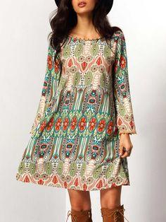 Shop Aztec Print V Back Shift Dress online. SheIn offers Aztec Print V Back Shift Dress & more to fit your fashionable needs.