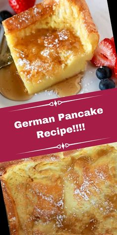 Ingredients: 6 eggs 1 cup milk 1 cup flour dash of salt 1 tsp vanilla 4 Tbs butter ...#Pancake #Recipe #Recipe!!!! #German Pancake Recipe For One 42+ German Pancake Recipe!!!!   Pancake Recipe For One Person   2020 Easy Pancake Recipe Without Milk, Pancakes Recipe For One Person, German Pancakes Recipe, Best Pancake Recipe, Baked Pancakes, Pancakes Easy, Waffles, Breakfast Dishes, Breakfast Recipes
