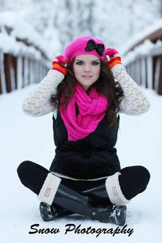 Outdoor snow photography Photography poses