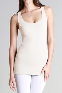 Our best selling basic seamless tank. Great coverage and hides bra straps! Super soft and stretchy fabric. Doesn't ride up and stays pulled down. Very comfortable to wear. This will be your new favorite tank! Hand wash or gentle cycle and hang dry only. Do not put in dryer!Layer underneath sheer blouses, sweaters or wear alone.   Favorite Basic Tank by LuLu's Boutique. Clothing - Tops - Tees & Tanks Washington
