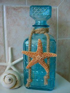 Beach Home Decor Tiffany Blue Starfish by sandnsurfcreations, $32.00