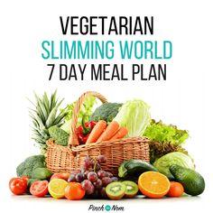 slimming world 7 day meal plan vegetarian week 1