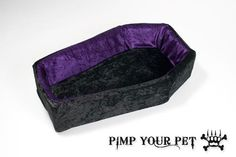 Purple Velvet Coffin Bed. my kitty needs one of these!