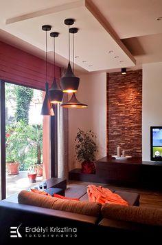Modern mediterrán nappali - belsőépítészeti és lakberendezői munkák
