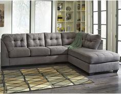 Flash Furniture FBC-2349RFSEC-CRC-GG Benchcraft Maier Sectional with Right Side Facing Chaise in Charcoal Microfiber