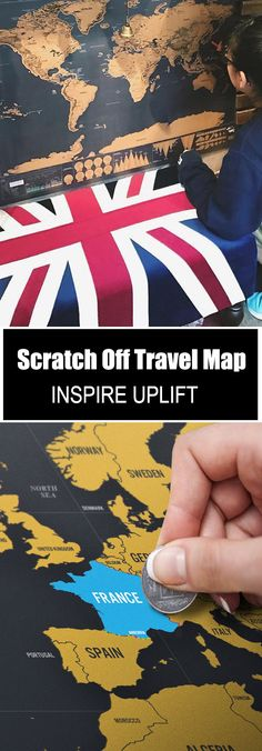 Wanderlust Scratch Off Map - ★★★★★ How do you know if you have a wanderlust? Well, for starters, you are eager to go, go, go and explore every part of the world! You dream about travel. You save up all of your extra money to be able to travel. Christmas Presents For Boys, Christmas Diy, Scratch Off, Travel Maps, Travel Gifts, Adventure Is Out There, Hacks, Travel With Kids, Diy Gifts
