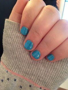 Shellac, blå med hvid glimmer, CND shellac