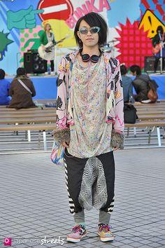 FASHION JAPAN: Yusuke (Shibuya,Tokyo,SP arms,DAYBREAK,e_,MALKO MALKA,LAD MUSICIAN,ORIGINAL Jams,CONVERSE,39MART)