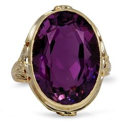 The Liliha Ring, Edwardian Amethyst 14K Yellow Gold