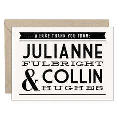 Billboard Stationery - Julianne & Collin | Paper Source