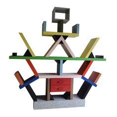 Ettore Sottsass / Carlton Bookcase Memphis Milano ca1981