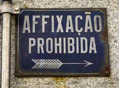 avís. placa esmaltada, Porto. foto miquel