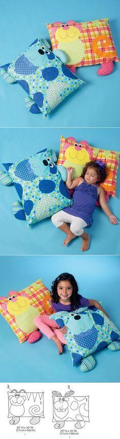 Almofadas infantis divertidas Cachorro e Coelho