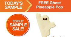 FREE Ghost Pineapple Pop at Edible Arrangements Today on http://www.freebiescouponsdeals.com/