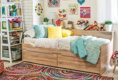 ¡#Multifuncional y súper #versátil! Optimiza el espacio en el #dormitoriod e tus #hijos con una #cama con #cajoneras. #MiPieza #Camarotes #Infantil #Niños