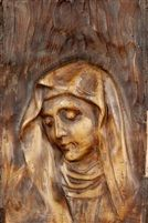 View Sainte Vierge by Gustav Adolf Mossa on artnet. Browse upcoming and past auction lots by Gustav Adolf Mossa. Hand Carved Walking Sticks, Wood Carving Art, Vintage Artwork, Religious Art, French Vintage, Madonna, Woodworking Projects, Cravings, Lion Sculpture