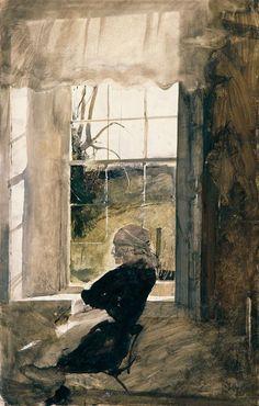 """Andrew Wyeth--""""Groundhog Day Study, 1959"""""""