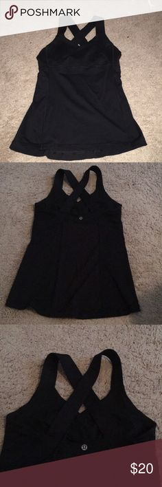 Lululemon black tank size 6 Older style, but only worn a few times! lululemon athletica Other