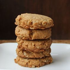 Bite and Booze: Peanut Butter, Oatmeal, and Olive Oil Cookies with Whole Wheat Flour Chunky Peanut Butter, Peanut Butter Oatmeal, Peanut Butter Cookie Recipe, Cookie Recipes, Diet Recipes, Heathy Sweets, Healthy Desserts, Delicious Desserts, Baton Rouge