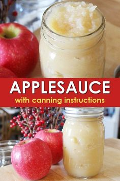 This easy to make applesauce recipe is delicious fresh or is perfect for canning applesauce to have later on! Fill up your pantry shelves with this staple and enjoy homemade applesauce anytime! Jam Recipes, Canning Recipes, Apple Recipes, Real Food Recipes, Freezer Recipes, Chicken Recipes, Canning Applesauce, How To Make Applesauce, Homemade Applesauce