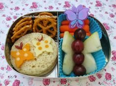 Bento School Lunches: Butterfly bento Sophia kinder