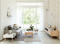 Ideas: Quirky Living Room Ideas With Loveset Design And Wood Vanity Also Wall Lamp White Framed Glass Door Wood Coffee Table Rug Also Wood Vinyl Flooring: Modern Korean Interior Design Style