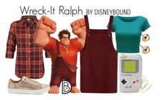 """""""Wreck-It Ralph"""" by leslieakay ❤ liked on Polyvore featuring WearAll, RALPH, TOMS, disney, disneybound and disneycharacter"""