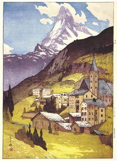 Matterhorn, Day  by Hiroshi Yoshida, 1925