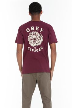 OBEY CLOTHING - OBEY TIGER SAVAGES BASIC TEE, OBEY BASIC TEE