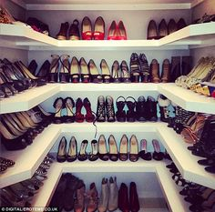 Kelly Brook shoe closet