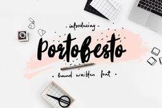 Portobesto | Brush Script Trio by Katsia Jazwinska on @creativemarket