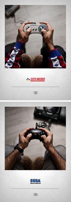 """Voici """"Controllers"""" une série de photos représentant l'histoire de nos manettes, jolie travaille de Javier Laspiur, dommage qu'il se soit trompé dans les dates."""