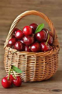 """Buy the royalty-free Stock image """"Fresh sweet cherries in a wicker basket. Fruit And Veg, Fruits And Vegetables, Fresh Fruit, Basket Of Fruit, Cherry Fruit, Photo Fruit, Fruit Picture, Exotic Fruit, Tropical Fruits"""