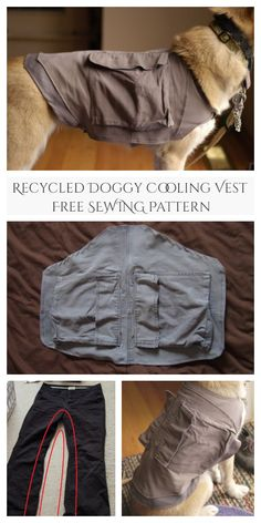 DIY Recycled Doggy Cooling Vest Free Sewing Pattern | Fabric Art DIY