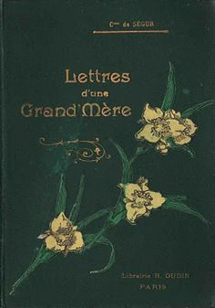 Vintage Ephemera: Early French book cover