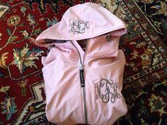 Marley Lilly monogrammed rain coat!